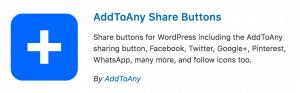 Wordpress Plugins AddToAny Share Button