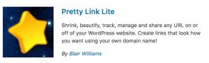 Wordpress Plugins Pretty Link