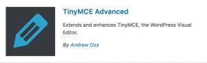 WordPress Plugins TinyMCE Advanced
