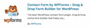 WordPress Plugins Contact Form