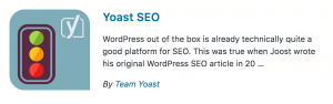 WordPress Plugins Yoast SEO